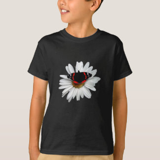 Red Admiral Butterfly on Flower T-Shirt