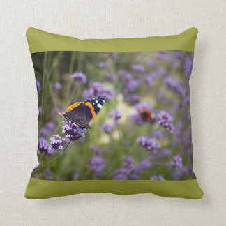 Red Admiral Butterfly Throw Pillows