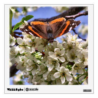 Red Admiral Butterfly Wall Decal