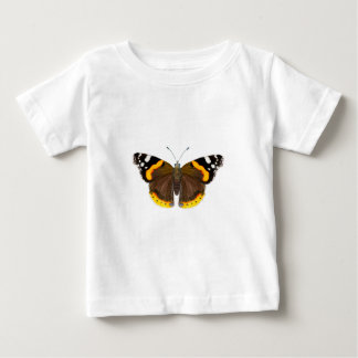 Red Admiral Butterfly Watercolor Painting Artwork Baby T-Shirt