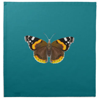 Red Admiral Butterfly Watercolor Painting Artwork Cloth Napkin