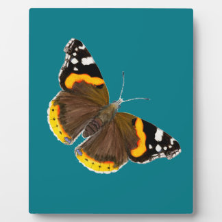 Red Admiral Butterfly Watercolor Painting Artwork Plaque