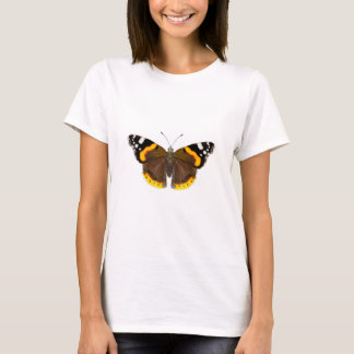 Red Admiral Butterfly Watercolor Painting Artwork T-Shirt