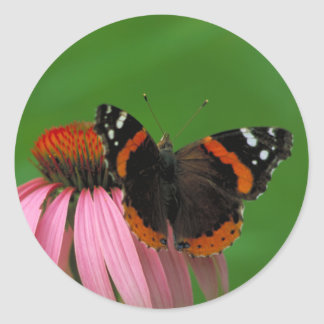 Red Admiral Classic Round Sticker