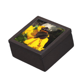 Red Admiral on Black Eyed Susan Keepsake Box