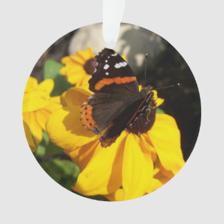Red Admiral on Black Eyed Susan Ornament