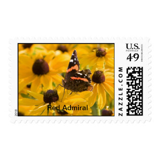 Red Admiral on Brown-Eyed Susans Stamp