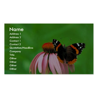Red admiral on Purple coneflower Double-Sided Standard Business Cards (Pack Of 100)