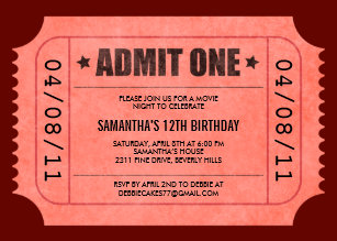 admit one invitations zazzle