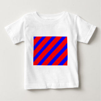 Red adn Blue Stripes Baby T-Shirt