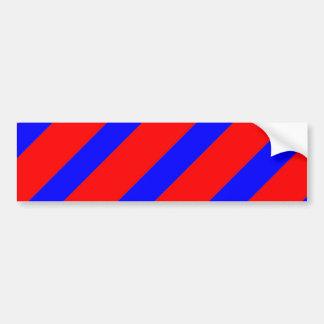 Red adn Blue Stripes Bumper Sticker