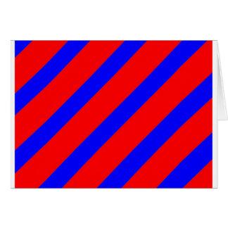 Red adn Blue Stripes Greeting Card