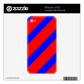 Red adn Blue Stripes iPhone 4S Decal