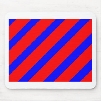Red adn Blue Stripes Mouse Pad