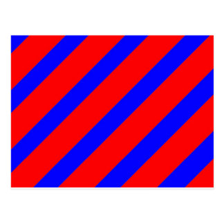 Red adn Blue Stripes Postcard