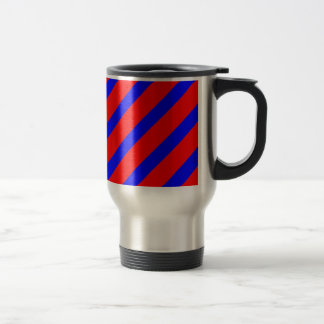 Red adn Blue Stripes Travel Mug