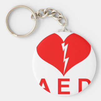 Red AED and Heart Symbol Keychain