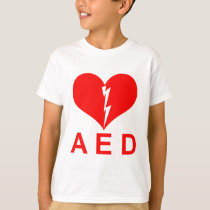 Red AED and Heart Symbol T-Shirt