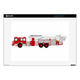"""Red Aerial Scope Custom Fire Truck Design Decals For 15"""" Laptops"""