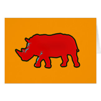 red africa rhinocerus card