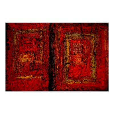Abstract Artwork Paintings. Red African Abstract Painting
