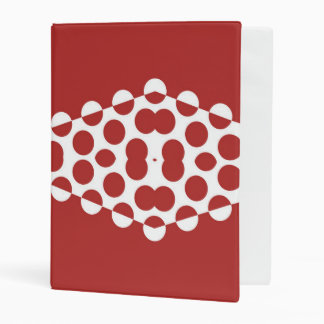 Red Afternoon Bubbles Modern Art Mini Binder