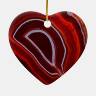 Red Agate Gemstone Texture Cermaic Ornament
