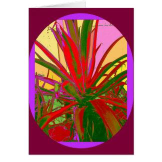 Red Agave Southwest Desert Design Gifts by Sharles Card