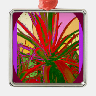 Red Agave Southwest Desert Design Gifts by Sharles Metal Ornament