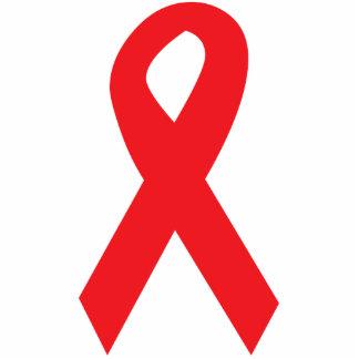 Red AIDS Awareness Ribbon Cutout