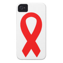 Red AIDS Awareness Ribbon iPhone 4 Case-Mate Case
