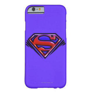 Red Airbrush Superman Logo Barely There iPhone 6 Case