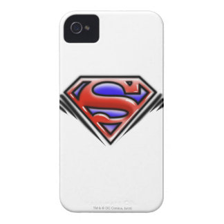 Red Airbrush Superman Logo iPhone 4 Cases