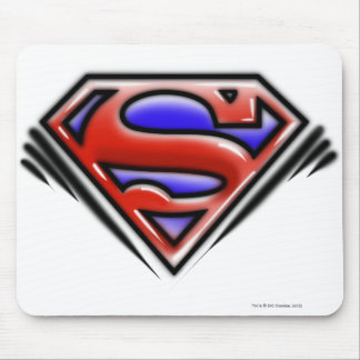 Red Airbrush Superman Logo Mouse Pad