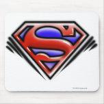 Red Airbrush Superman Logo Mousepads