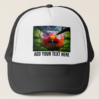 Red Aircraft And Your Text Trucker Hat