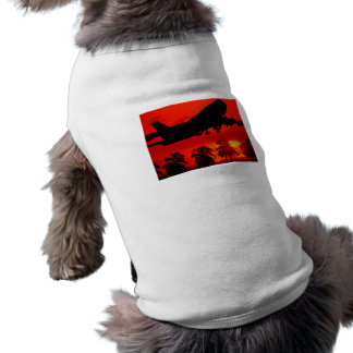 Red Airline Sunset Doggie Tee