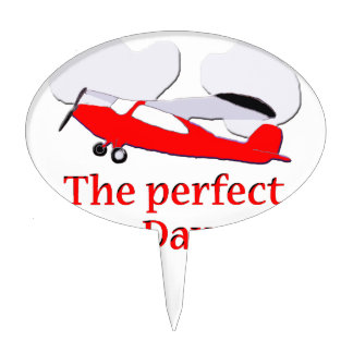Red Airplane Cake Topper