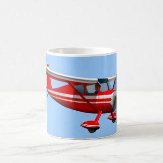 Red Airplane Classic White Coffee Mug