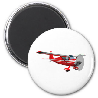 Red Airplane Magnet