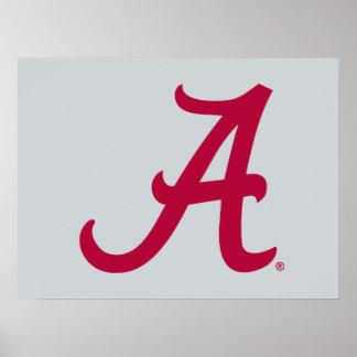 "Red Alabama ""A"" Poster"
