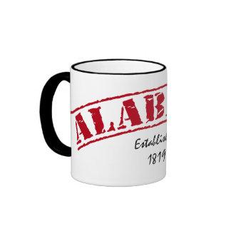 Red Alabama Established Ringer Mug
