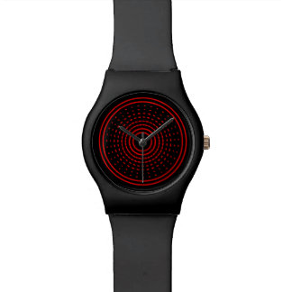 Red Alarm Abstract Gamma Led Light Spinning Watch