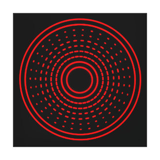 Red Alarm Abstract Spinning Gamma Led Light Canvas