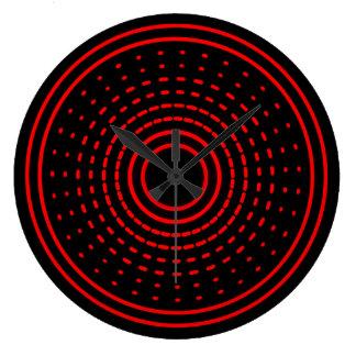 Red Alarm Abstract Spinning Gamma Led Light Clock