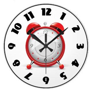 Red Alarm Clock Clock