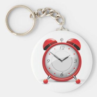 Red Alarm Clock Keychain