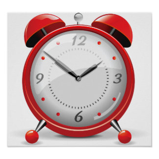 Red Alarm Clock Poster