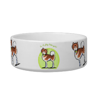 Red Alaskan Malamute Playtime Bowl