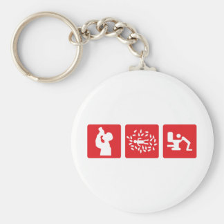 red alcohol picture icon basic round button keychain